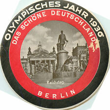 1936 OLYMPICS / OLYMPIC GAMES ~BERLIN GERMANY~ Rare & Historic Luggage Label