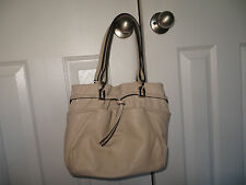 Coccinelle Cream colored Leather Shoulder Bag Handbag