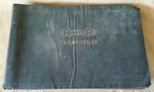 ORIGINAL RANSOMES RAPIER 424  EXCAVATOR PARTS CATALOGUE WORKSHOP MANUAL