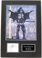 Gene Simmons Genuine Hand Signed Photo Mount Display KISS AFTAL COA (A)