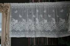 "Vintage Secret Garden cotton cafe curtain Nottingham lace valance bris-bise 18""W"