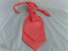 Coral-Salmon Polyester Mens Ruche-Trendy-Wedding Tie-Cravat  P&P 2UK   1st Class