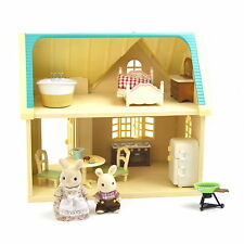 Sylvanian Families Applewood Cottage Includes Furniture and Rabbits