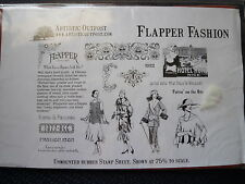 Artistic Outpost Stamp Set Flapper Fashion. 1920s Dress, Jazz, Icon