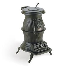ANTIQUE LOGCABIN COAL WOOD STOVE, New, QUEEN ANNE LEGS, Manufactured Replica