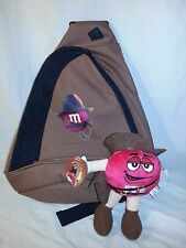 "Lot of 2 M&M INDIANA JONES Bookbag Backpack & RED Plush 8"" Toy Stuffed NWT"