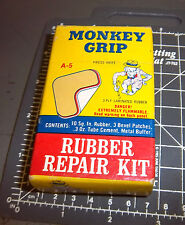 vintage Monkey grip rubber repair kit, 3.5 x 2 inch box, A-5, great graphics