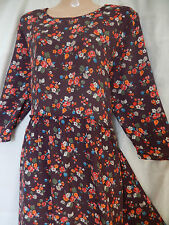 CATH KIDSTON Vintage 60s 70s Floral Hippy Boho Tunic Dress 12 14 40 42 US 8 10