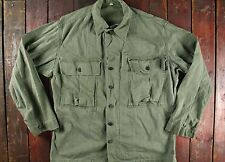 VTG 40 S WWII WW2 US ARMY HBT HERRINGBONE TWILL CHAMP CHEMISE VESTE MILITAIRE 40/42