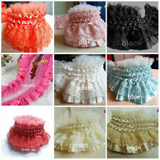 Amazing Ruffle Pleated Elastic Lace = price for 1 yard /select color/