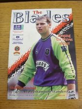 17/01/1998 Sheffield United v Wolverhampton Wanderers  (Excellent Condition)