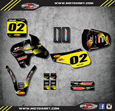 Suzuki RM 80 1995 - 1999 Custom Graphics Kit BARBED Style Sticker Kit decals
