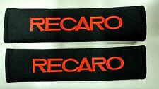 2pcs RECARO red Embroidered SeatBelt Shoulder Cover Pads