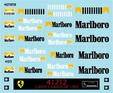 F1 DECALS MUSEUM COLLECTION D597 1/43 FOR FERRARI 412T1 & 412T2