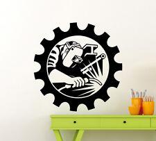 Welder Wall Decal Welding Man Work Industrial Vinyl Sticker Home Mural (137xx)