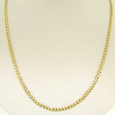 "Italian 14k Solid Yellow Gold 20"" 3.50mm Curb Cuban Link Chain Necklace 8.1g"