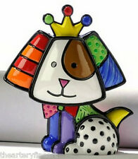 ROMERO BRITTO 'Royalty Dog', 2010/2011 Miniature Sculpture MINI Figurine **NEW**