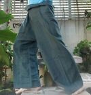 NEW THAI FISHERMAN WRAP PANTS HEAVY COTTON NICE WALE YOGA TROUSERS UNISEX CASUAL