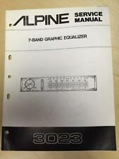 Alpine Service Manual for the 3023 Graphic Equalizer