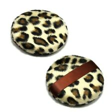2 pcs Fashion Large Makeup Leopard Style Cosmetic Loose sponge Powder puff