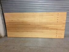 8' Reclaimed Maple Bowling Alley Lane Wood section w/ inlaid dots -make a table!