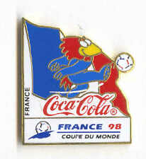 1998 WORLD CUP COCA COLA FRANCE FLAG PIN CARRIED BY MASCOT FOOTIX NEW IN BAGS