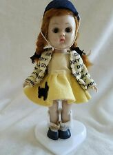 Vintage Vogue Ginny Doll Scottie Dog Skirt Jointed at Knees Red Hair 1950's