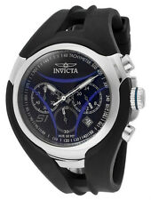 INVICTA 1607 S1 RALLY MENS CHRONO TACHYMETER DATE BLACK DIAL POLYURETHANE BAND