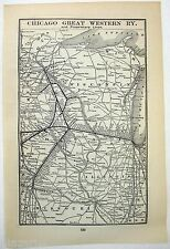 Original 1902 Map of the Chicago Great Western Railway