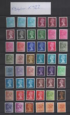 X841-X922. Set x 83 Machin inc. 1/2d side-band. Fine unmounted mint. FREEPOST!