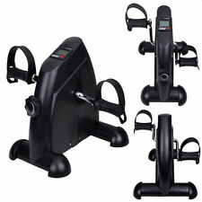 Mini Pedal Exerciser Bike Fitness Exercise Cycle Leg/Arm w/ LCD Display Home Gym