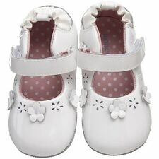 Robeez Baby Girls Plain Jane White Mini Shoez Collection, US Size 2 (3-6M)