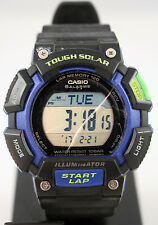 Casio STLS110H-1B Mens SOLAR Watch Digital World Time 5 Alarms LED Light