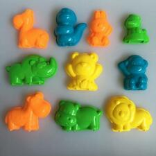 10 pcs 3D Sand Doh Clay Play Beach indoor vivid Classical Animal Molds for Kids
