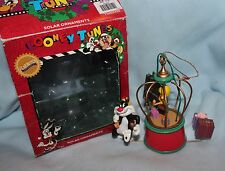 ornament Christmas Looney Tunes Tweety and Sylvester solar powered works