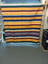 Serape XXL,5' X 7',Mexican Blanket,HOT ROD, Seat Covers,Motorcycle, YELLOW mixed