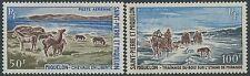 SAINT PIERRE ET MIQUELON PA N°44/45** Chevaux, TB, SPM 1969 Horse MNH