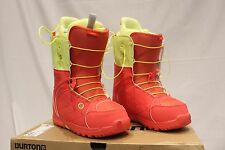 MSRP$ 179.95 Burton Mint Coral Yellow Snowboard Boots Women's Size 10