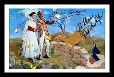 JULIE ANDREWS & DICK VAN DYKE - MARRY POPPINS SIGNED & FRAMED PP POSTER PHOTO