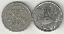 2 DIFFERENT 1 DIRHAM COINS from MOROCCO - 1974 & 2002 (2 TYPES)