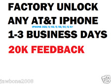 FACTORY UNLOCK CODE SERVICE AT&T IPHONE 3 4 4S 5 5C 5S 6 6+