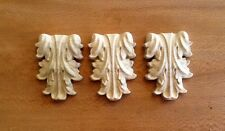 """Lot of 3 - Hand Carved Solid Hardwood Little Corbels 2-7/8""""H x 2""""W"""