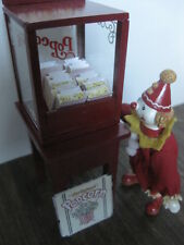 Miniature Dollhouse Popcorn Display case &  High Quality Pierrot doll
