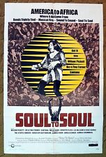 """A full music explosion of top musicians of the 70's """"SOUL TO SOUL"""" music poster"""