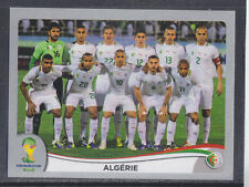 Panini-Brasil 2014 World Cup - # 584 Argelia equipo Grupo-Platinum