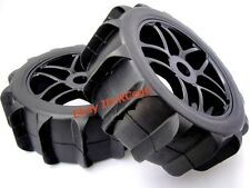 RC 1/8 Baja Buggy Wheel & Snow / Sand Paddle Tires Set (1 Pair) for HPI