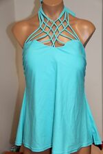 NWT Island Escape Swimsuit Bikini Tankini Top Plus Sz 24W Paradise Macrame