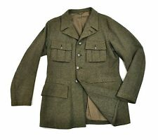 WWII Swedish Army Wool Field Jacket Tunic Med 1945 Uniform Coat Vtg Sweden 40