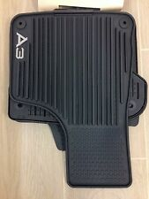AUDI A3 RUBBER ALL WEATHER FLOOR MAT SET OF 4 2005-2013 OEM New
