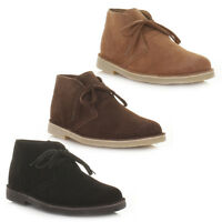 Mens Real Suede Casual Lace Up Desert Ankle Boots, Smart Casual Shoes Uk Size